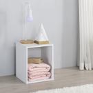 書櫃 收納 堆疊 置物櫃【收納屋】簡約加高單格櫃-白色& DIY組合傢俱
