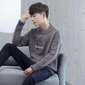毛衣男圓領韓版潮流青少年學生毛線衣個性日系針織衫男小衫   琉璃美衣