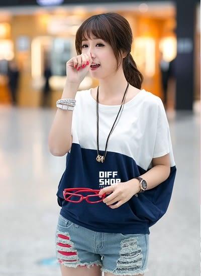 【DIFF】夏季韓版大碼女裝寬鬆女士短袖女T恤 韓妞 大學t  短袖 素T 短袖上衣【T109】