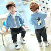 寶寶外套 男童牛仔外套春秋韓版2小童洋氣兒童夾克嬰兒秋裝寶寶外套男1-3歲 小宅女