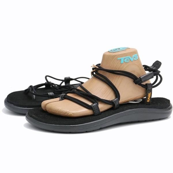 TEVA 涼鞋 VOYA INF 全黑 繩狀 綁帶 休閒 羅馬鞋 女 (布魯克林) TV1019622BLK