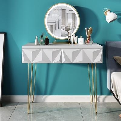 梳妝台 北歐梳妝台網紅ins風小戶型迷你桌臥室現代簡約輕奢超小化妝櫃