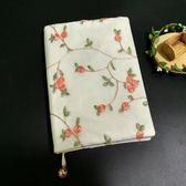 【胭脂】原創蕾絲布藝手賬本手工筆記本子創意文具旅行記事本禮品