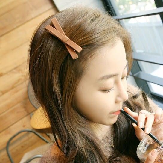 韓版蝴蝶結交叉髮夾 髮飾