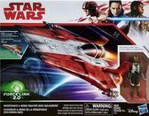 星際大戰STARWARS 電影8最後的絕地武士 3.75吋交通載具人物組反抗軍戰機A wing 紅色中隊 玩具e哥