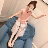 女童夏裝2018新款套裝夏季童裝兒童短袖