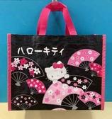 【震撼精品百貨】Hello Kitty_凱蒂貓~三麗鷗KITTY購物袋(S)-黑#83045