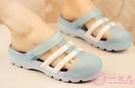 洞洞鞋女新款沙灘鞋厚底防滑果凍鞋軟底海邊度假外穿夏季涼拖鞋