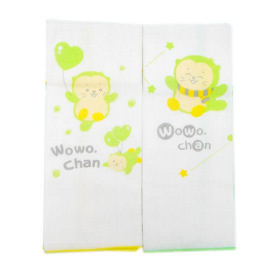 【奇買親子購物網】黃金海獺WOWOCHAN紗布澡巾(2入)