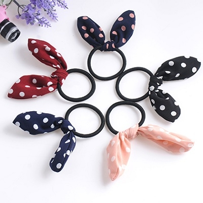 【NiNi Me】韓系髮飾 甜美可愛兔耳朵髮束 髮束H9336
