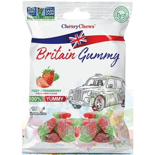 英國傳統風味軟糖-酸Q草莓150g【愛買】