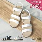 涼鞋 二橫帶魔鬼氈涼鞋 MA女鞋 T70...