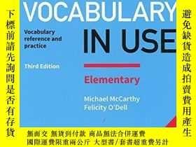 二手書博民逛書店English罕見Vocabulary In Use Elementary Book With Answers A