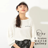 ❖ Hot item ❖ 簡約草寫字幕上衣 - E hyphen world gallery