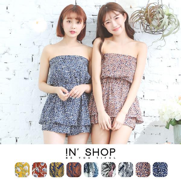 IN' SHOP 平口圖騰雪紡連身褲 (9色) 【KT23151】