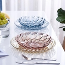 水果籃 家用客廳水果盤托盤北歐式水晶茶幾塑料糖果盆干果籃甜品盤子創意【快速出貨八折搶購】