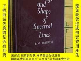 二手書博民逛書店The罕見Shift and Shape of Spectral