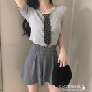 直播衣服女主播服裝上鏡清純甜美上衣顯瘦性感短款T恤氣質夏 提拉米蘇