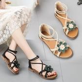 涼鞋百搭涼鞋網紅女鞋平底鞋仙女鞋沙灘鞋夏季新品學生羅馬鞋