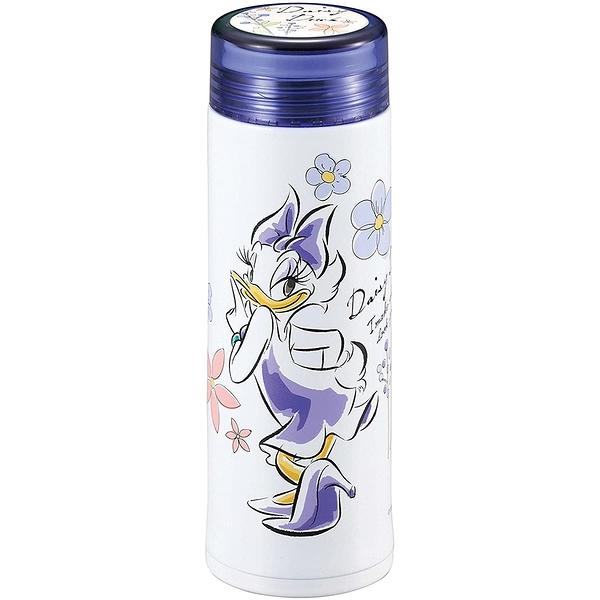 Pearl 細身輕量保溫保冷不鏽鋼隨手瓶 300ml 迪士尼 黛西 花朵 紫_PA42211