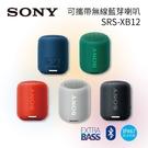 【限時下殺+24期0利率】SONY 索尼 EXTRA BASS 可攜帶式無線藍芽喇叭 SRS-XB12