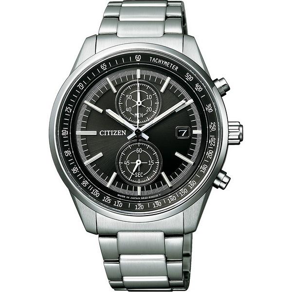 【台南 時代鐘錶 CITIZEN】星辰 光動能 雅痞質感計時腕錶 CA7030-97E 黑/銀 41mm