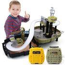 新款背包停車場模型軌道滑行軍事工程小汽車玩具3-6歲       SQ5245『科炫3C』