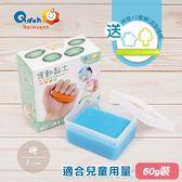 【Q-doh】運動黏土 60g (藍色-硬),贈品:造型壓模工具(桿棍x1+壓模x2)