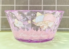 【震撼精品百貨】Little Twin Stars KiKi&LaLa 雙子星小天使~三麗鷗塑膠碗/美耐皿碗-透明紫#52651