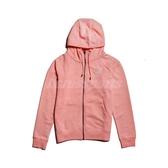 Nike 外套 AS W NSW ESSNTL Hoodie FZ FT 粉紅 白 女款 連帽 刷毛 運動休閒 【PUMP306】 BV4123-697