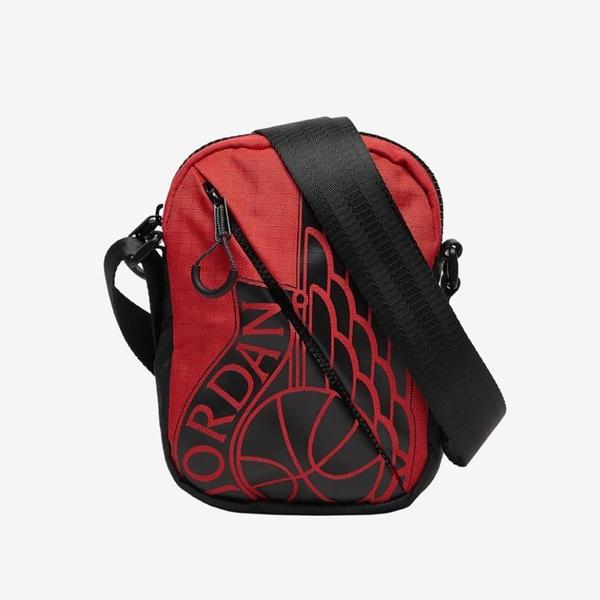 NIKE JORDAN WINGS FESTIVAL BAG 紅 隨身 側背包(布魯克林)  9A0198-R78