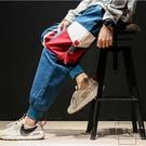 日系寬松褲子男加肥加大碼休閒褲工裝褲束腳褲子【時尚大衣櫥】