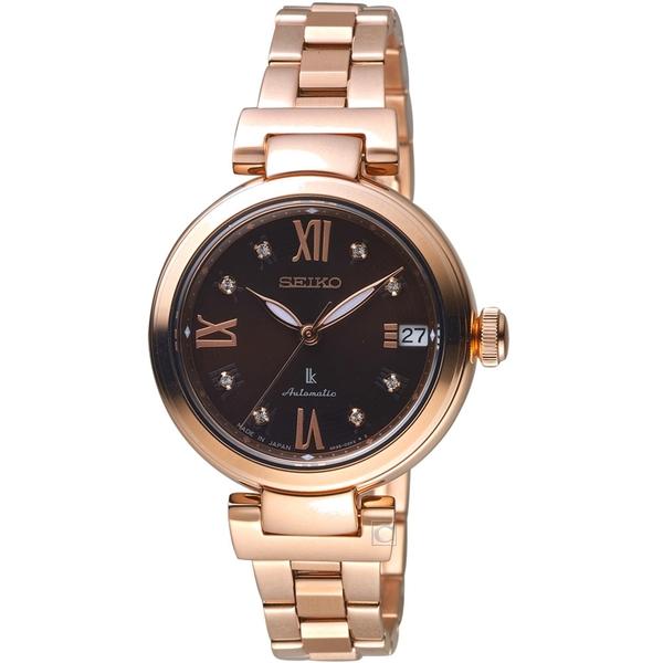 SEIKO精工LUKIA璀璨時尚限量機械腕錶 4R35-02Y0B  SRP844J1 咖啡