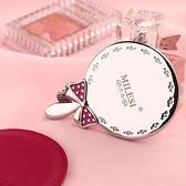 店長推薦 米勒斯鏡子創意手提化妝鏡手柄鏡便攜式可愛公主隨身圓形金屬