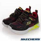 SKECHERS ERUPTERS III 閃電 燈鞋 黑紅 小童鞋 NO.R4081