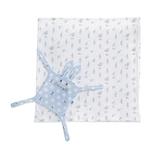 【奇哥】藍色小比得多功能包巾禮盒-附安撫巾