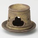 日本陶瓷【益子燒】織部 茶香爐-長 手作薰香爐