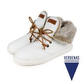 【VERBENAS】MARBELLA西班牙時尚造型毛飾短靴  白色( 034-WH)