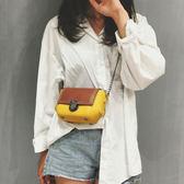 斜背包夏天迷妳小包包女上韓版百搭斜背包時尚鍊條小方包潮 艾維朵
