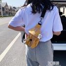 網紅流行小包包2020新款潮女春夏斜挎包腋下包百搭帆布包胸包質感 3C優購