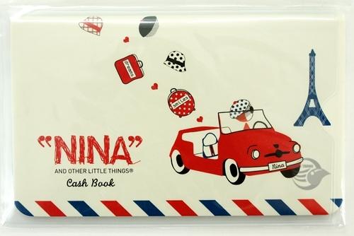 【金玉堂文具】小紅帽NINA車子 鐵塔 記帳本 存摺收支簿 CASH BOOK(附收納套)