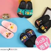 卡通熊黃鴨圖案兒童居家拖鞋 沙灘鞋
