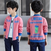 男童外套 童裝男童外套夾克衫春秋中大童休閒夾克衫新款男孩拉鏈上衣 檸檬衣舍