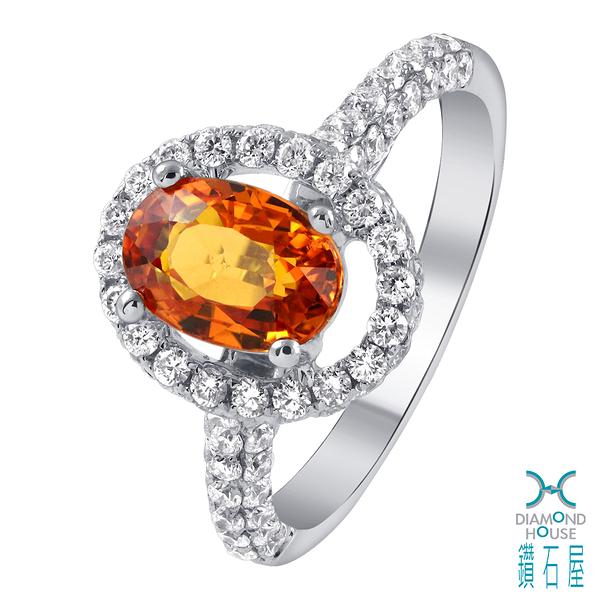 【鑽石屋】1.80克拉黃寶戒指