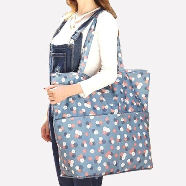 旅行手提袋韓版女包簡約百搭單肩包手提包大包包折疊便攜購物袋包 poly girl