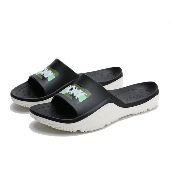 PONY 黑綠迷彩 拖鞋 防水 膠拖 拖鞋 男女 (布魯克林) 02U1FL03GN