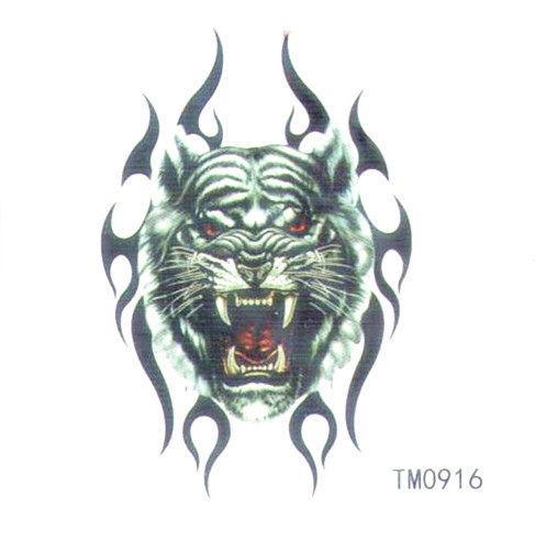 薇嘉雅  猛虎 超炫圖案紋身貼紙 TM0916