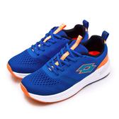 LIKA夢 LOTTO 23cm-25.5cm 輕量避震慢跑鞋 LIGHT FLY系列 藍橘 1816 大童