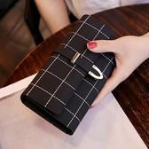 2018新款歐美長款錢包女復古磨砂三折時尚百搭女式大容量手拿皮夾「櫻桃」
