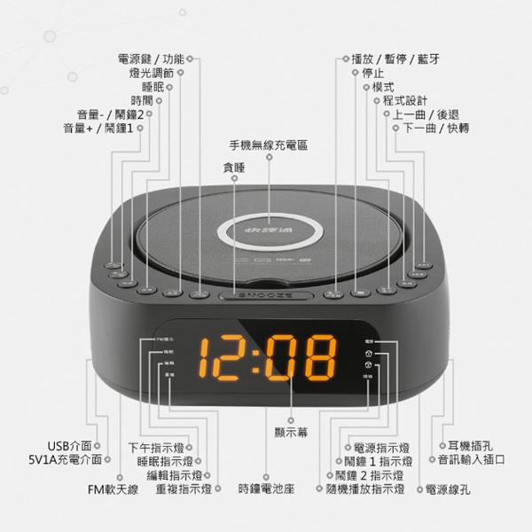 【Abee快譯通】多功能藍牙無線充電立體聲音響 CD61